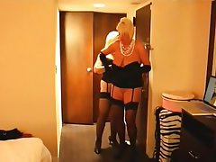 Lesbian, Stockings, Granny