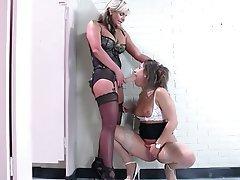 Lesbian, Stockings, Pantyhose, Strapon