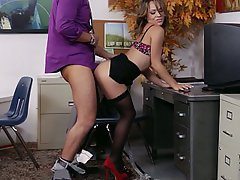 Office, Secretary, Stockings, Babe