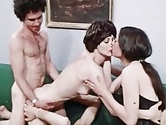 Group Sex, Hairy, Lingerie, Swinger, Vintage