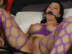 BDSM, Big Boobs, Latex, Lesbian, Strapon
