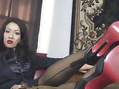 Stockings, Femdom, Foot Fetish, Lesbian