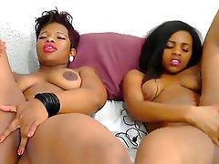 Lesbian, Masturbation, Webcam