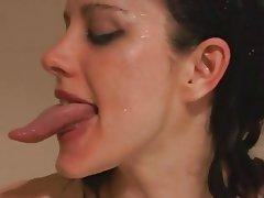 long tongue kissing