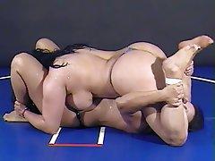 BBW, Big Boobs, Brunette, Lesbian